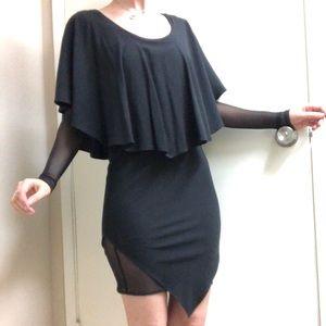 For Love and Lemons long sleeve capelet dress